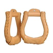 Tough-1 Royal King Laced Oxbow Stirrups - Natural Russet
