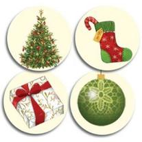Lacy Ornaments Christmas Seals - 100 Pack