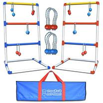 GoSports Premium Ladder Toss Game with 6 Bolos and Carrying
