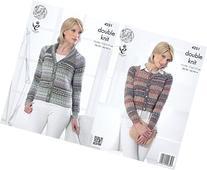 King Cole Ladies Double Knitting Pattern Womens Boxy Jacket
