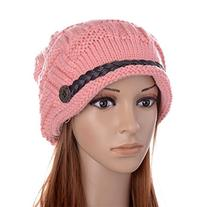 Ibeauty Pink Women Lady Beanie Crochet Hat,fashion Women's