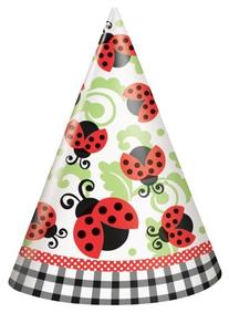 Ladybug Party Hats 8ct