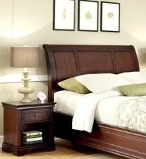 Home Styles Lafayette Sleigh Headboard and Night Stand in