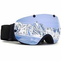 ZIONOR Lagopus Snowmobile Snowboard Skate Ski Goggles with
