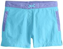 White Sierra Girls Lake Shorts, Sail Blue, Medium