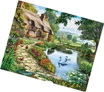 White Mountain Puzzles Lakeside Cottage - 1000 Piece Jigsaw