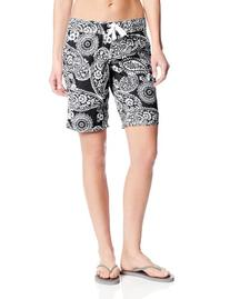 Kanu Surf Women's Lanai Board Shorts, Black, 0