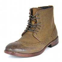 Steve Madden Men's Lanter Boot, Brown Nubuck, 9.5 M US