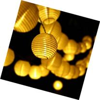 LUCKLED Outdoor Fairy Lantern Solar String Lights, 19.7ft 30 LED Christmas Globe Lights for Indoor and Outdoor, Home, Lawn, Garden, Wedding, Patio,