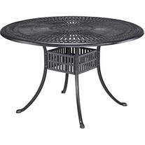 """Home Styles Largo 48"""" Round Outdoor Dining Table, Charcoal"""