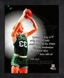Larry Bird Boston Celtics Pro Quotes Framed 8x10 Photo #3