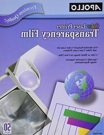 Color Laser Printer/Copier Transparency Film, Letter, Clear