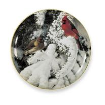 Late Snow Cardinals by Marc Hanson 9.25 inch Decorative