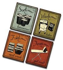Laundry Set - mini Mini Prints, Vintage, Signs Art Print
