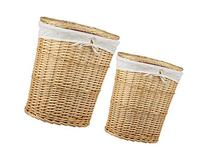 Sunbeam Laundry Wicker Basket, Natural, 2 Piece