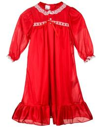 Laura Dare Big Girls Red Long Sleeve Traditional Peignoir