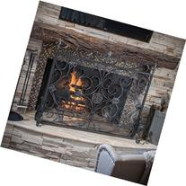 Home Loft Concepts Laurentia Panel Iron Fireplace Screen