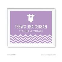 Andaz Press Lavender Chevron Girl Baby Shower Collection,