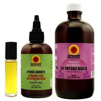 LAVENDER Jamaican Black Castor Oil 8oz & Strong Roots Red