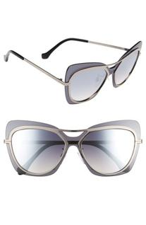 Women's Balenciaga Paris 57Mm Layered Butterfly Sunglasses