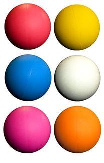 LBS Lacrosse Ball Set - 6 Assorted Color Balls