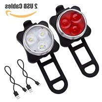 LE Rechargeable LED Bike Light Set, Cycling Headlight and