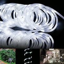 LE Solar Power Rope Lights, Waterproof, 16.5ft 50 LEDs