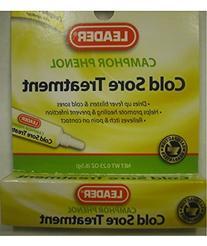 Leader Cold Sore Treatment Medicated Gel .25 oz