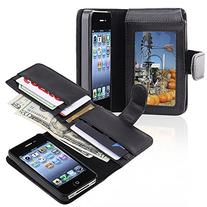 Insten Leather Case with Wallet for Apple iPhone 4/4S -
