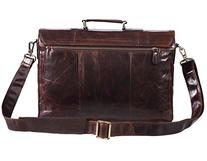 Polare Mens Natural Leather 14'' Removeable Laptop