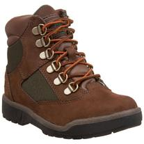 Timberland 6-Inch Leather and Fabric Field Boot ,Brown