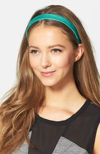 L. Erickson Leather Headband, Size One Size - Blue/green