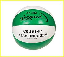 14 - 15 lbs. Leather Medicine Ball
