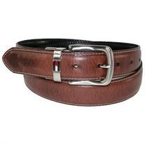 Tommy Hilfiger Mens Leather Reversible Belt with Flag Logo