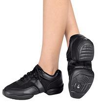 Adult Leather Split-Sole Sneaker,T8000BLK09.0,Black,09.0