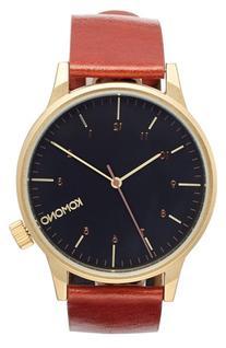 Men's Komono 'Winston Regal' Leather Strap Watch, 41Mm