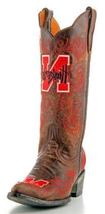 """Gameday Womens 13"""" Leather University Of Nebraska Cowboy"""