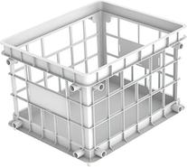 Storex Standard Letter/Legal File Crate, 17.25 x 14.25 x 11.