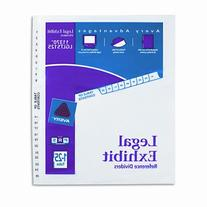 Avery Legal Index Exhibit Dividers, Side Tab, 1-25 8 1/2in.