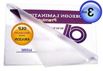 Legal Laminating Pouches 3 Mil 9 x 14-1/2 Qty 100