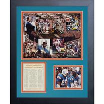 Legends Never Die Miami Dolphins 1972 Mosaic Framed Photo