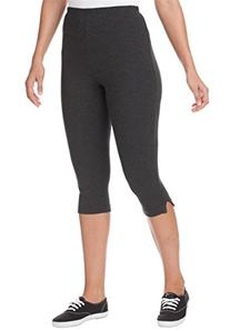 Women's Plus Size Leggings, Capri Length In Stretch Knit
