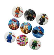Lego Movie Buttons Badges 9 Pcs Set #1