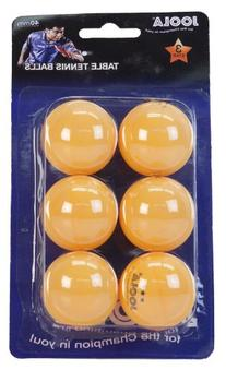 JOOLA Leisure 3-Star Table Tennis Balls - 6 pack - Orange
