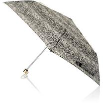 Accessorize Leopard With Gold Met Handle Superslim Umbrella