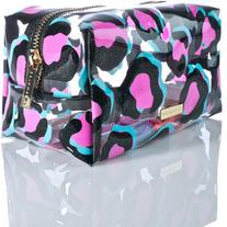Skinnydip Leopard Makeup Bag