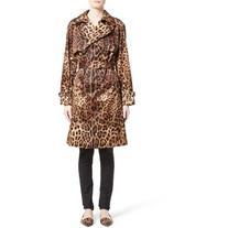 Women's Dolce&gabbana Leopard Print Silk Trench Coat