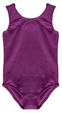 Dancina Leotard Tank Top Girls Full Front Lined Cotton and