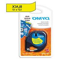 DYMO - LetraTag Plastic Label Tape Cassette, 1/2in x 13ft -