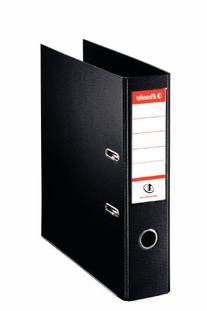 Esselte Lever Arch File PVC Slotted 70mm Spine A4 Black Ref